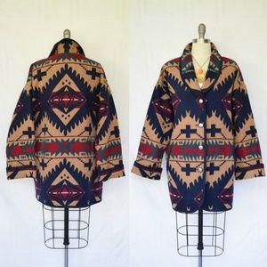 Vintage Pendleton Aztec southwest blanket coat